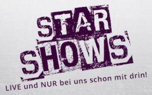 Star Shows in lila Logo