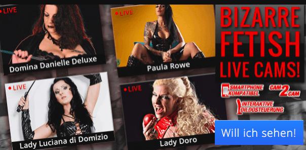 Vier Frauen in Leder Fetisch Kleidung