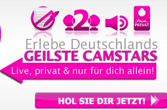 Werbeslogan von Camdorado in rosa Schrift