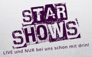 Star Shows in lila Logo
